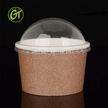 Custom printed disposable salad bowl kraft paper disposable soup bowl with lid