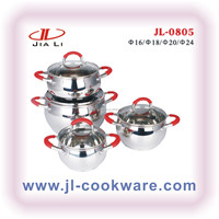 high quality apple shape with silicon handle stainless steel cookware