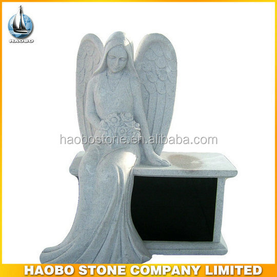 Natural Angel Bench American Style Headstone