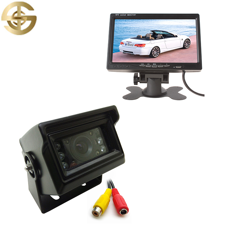 Car /Bus/ Truck Camera System IP68 Night Vision Camera Car And 7 Inch 800*480 HD Headrest Monitor