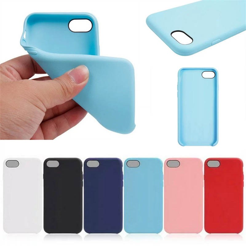 Candy Color Soft TPU Back Case for Apple iphone 7 8 , for iphone7 8 Case Cover