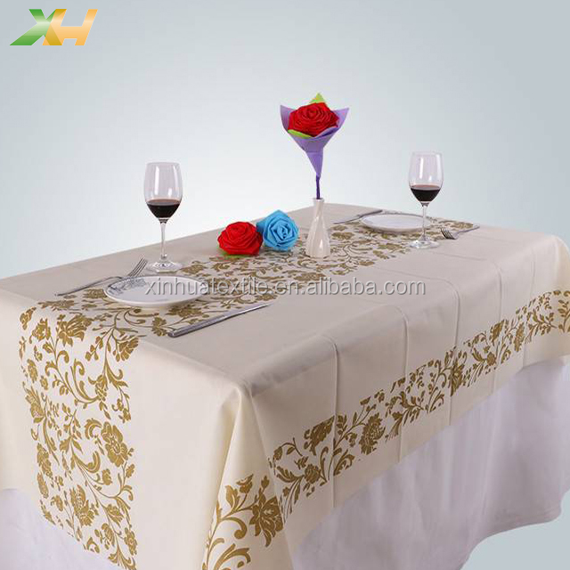 180*120cm 270*120cm printed pp spunbond non-woven tablecloth