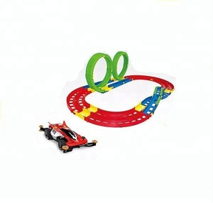 kids plastic slot car toy racing track for wholesale