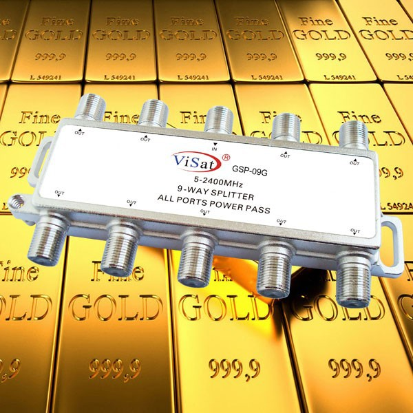 9 way 5-2400MHz satellite signal splitter