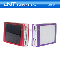 20000mAh solar charger Big LED panel External Battery Mobile camping Charger