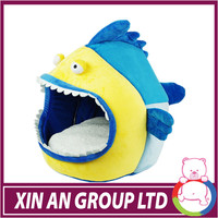 ICTI and Sedex audit new custom design EN71 fish shape plush pets dog sleeping bed