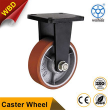 WBD polyurethane on polyolefin Fixed caster 1000kg heavy duty caster wheel