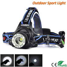 Rechargeable Zoom LED Headlamp Headlight For Hunting Fishing