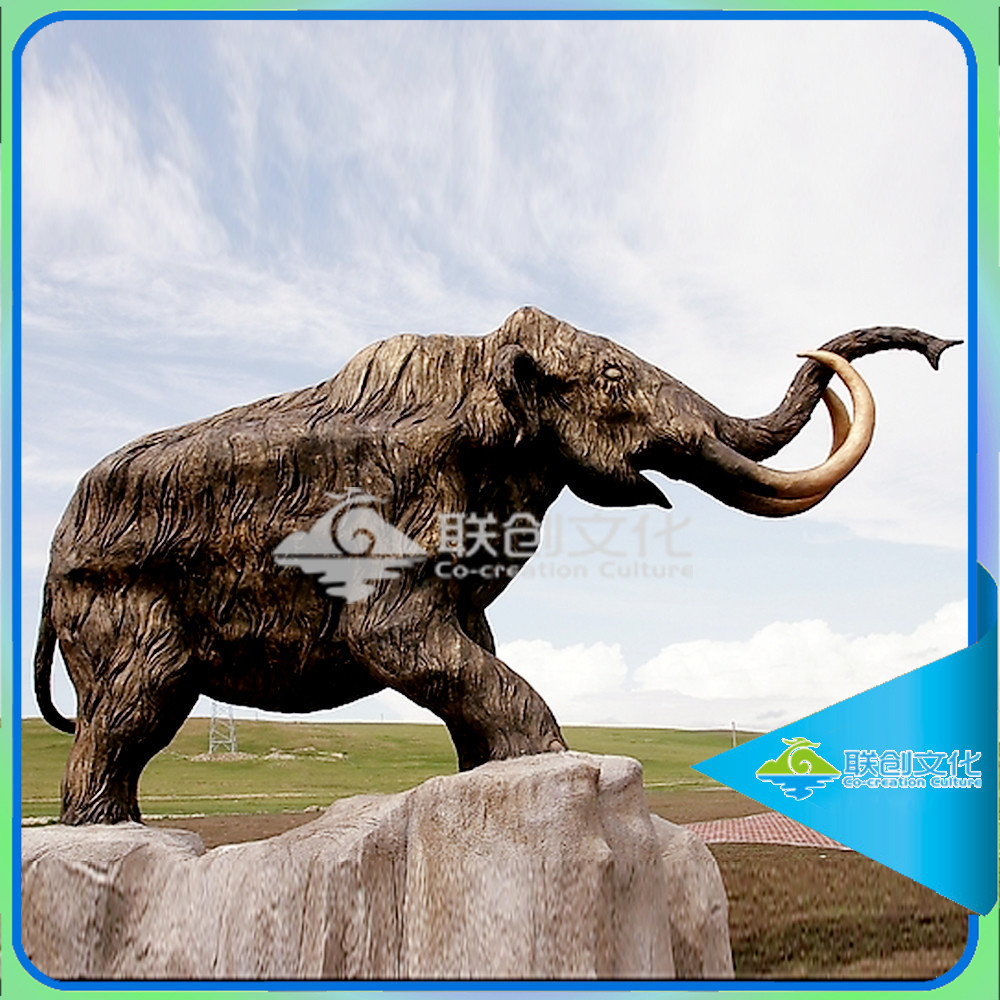 Fiberglass life size animal statue of elephant model