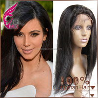 Fabwigs Straight Virgin full lace & lace frontal human hair wig brazilian hair wig