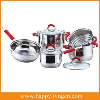 Deep drawing stainless steel pot series cookware set for Kitchen queen set