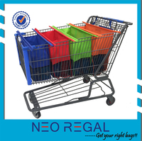 Shopping trolley bag, reusable shopping bag
