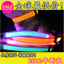 Collar Perro Led Night Safety Light-up Flashing Glow In The Dark Electric Led Cat collar Led Dog Collar