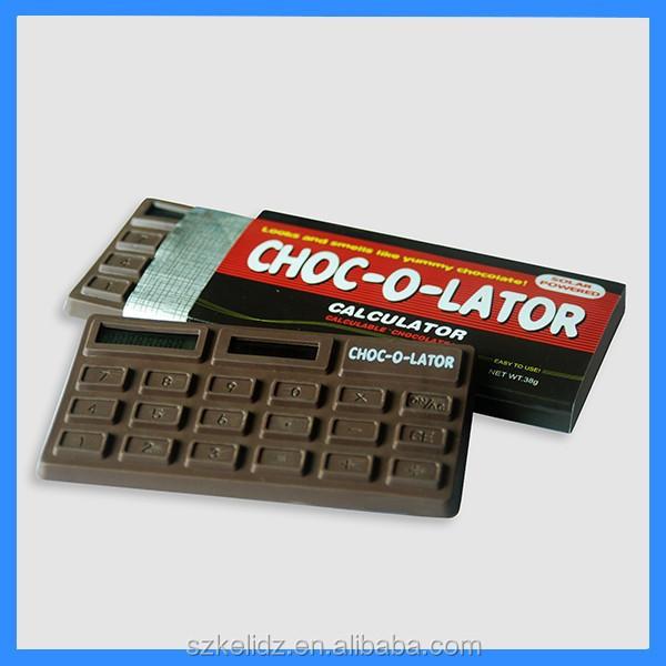 8 digit Chocolate shape Solar Calculator