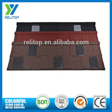 Stone coated metal roofing shingles