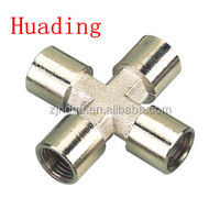 1/2 inch female NPT four way air connector , brass manifolds pipe fitting