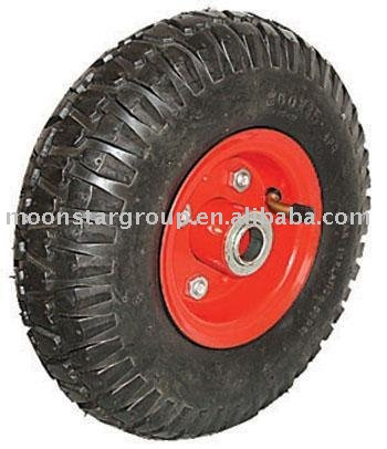 China manufacture of rubber wheels pneumatic wheel for wheel barrow/hand trolley