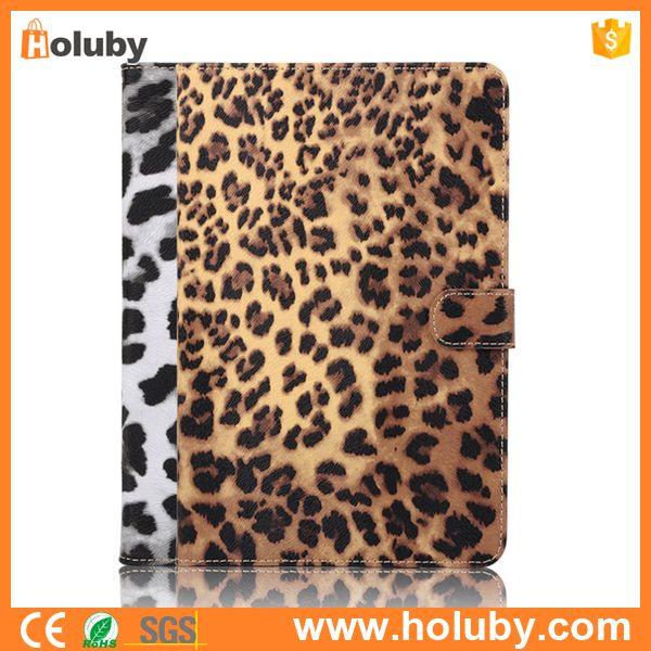 Leopard Pattern Magnetic Buckle Stand Flip Case For iPad Mini 4, For iPad Mini 4 Leather Case Cover
