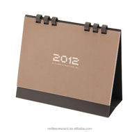 Chocolate simple design Standing Desk flip over Calendars With spiral Binding