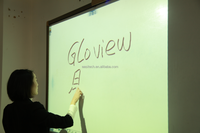 Gloview touch screens offer schools & businesses a cost effective solution Interactive whiteboard