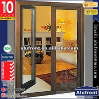 Energy Saving Aluminum Frame French Casement Window for Sale
