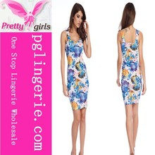 Hot Summer Sexy Floral Casual Party Cocktail Club Midi Funky Party Dress