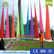 Nylon oxford wedding decoration led light inflatable air cone