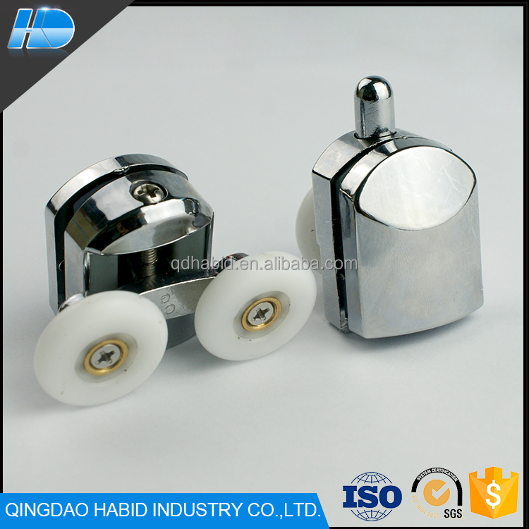 Top Selling Professional Stainless Steel Nylon Door Accessories High Quality Custom Hanging Sliding Shower Roller Wheels Pulley