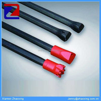Small hole diameter taper drill rod for blast