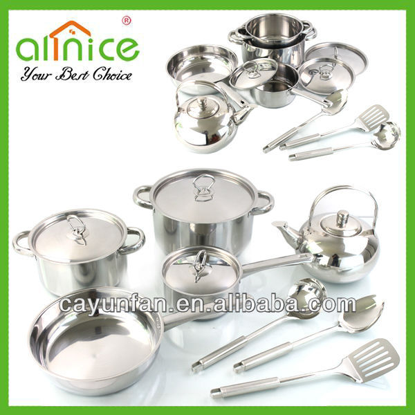 13 pcs cookware set stainless steel kitchenware/pot