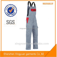 China Supplier 100% cotton fireproof canvas bib men's winter adults overalls for mining