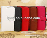 PU leather flip wallet case cover for samsung galaxy s4 mini i9190, waterproof case for samsung galaxy s4 mini