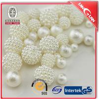 Yangmei shape ABS beige color pearl jewelry