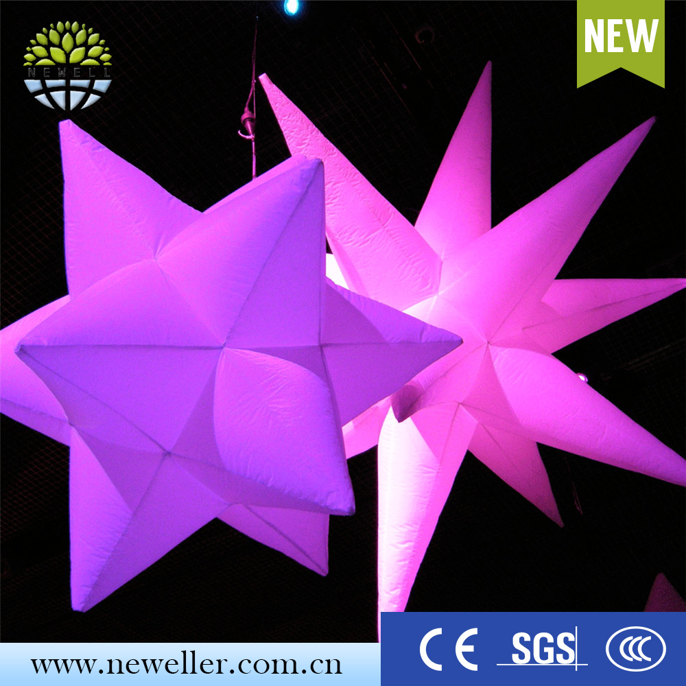 Costume inflatable led decoration big led light inflatable star with lamp