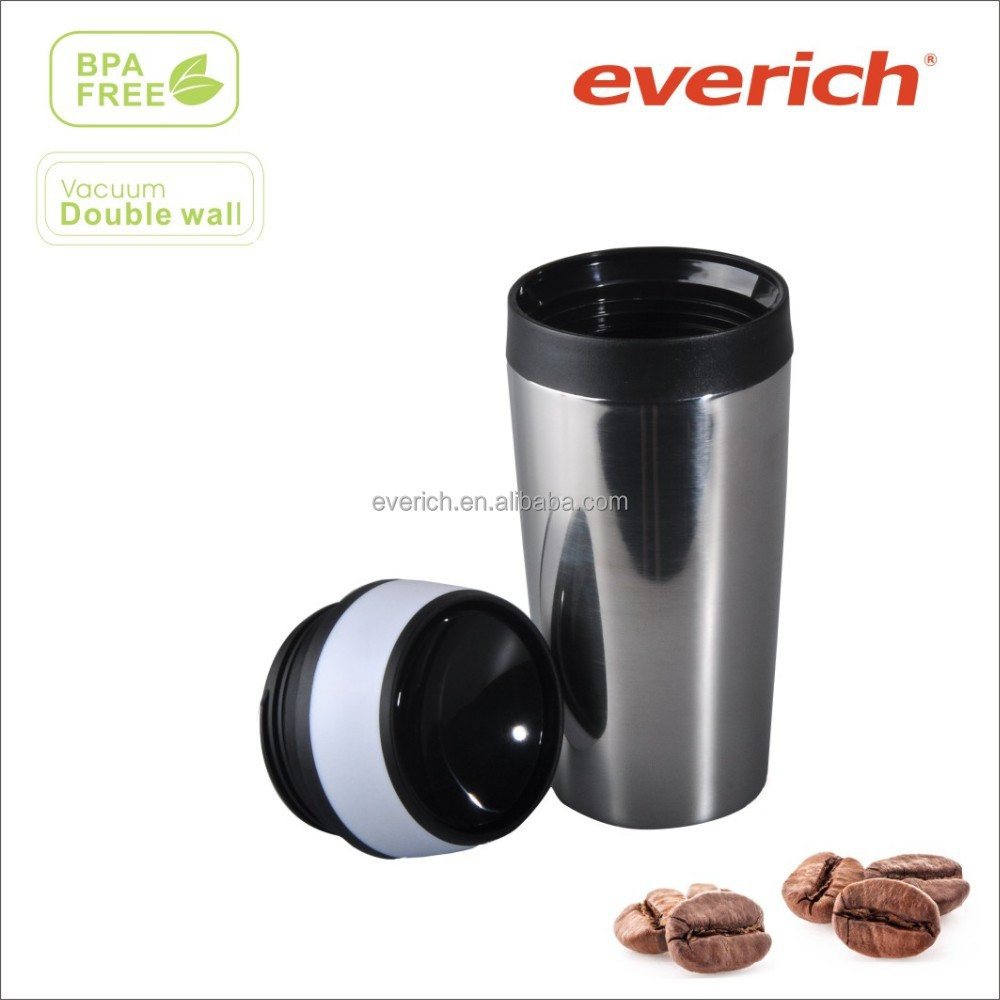 16oz high quality plastic travel mug with push lid