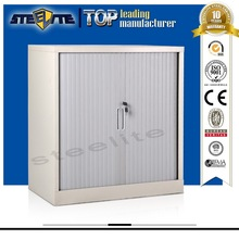 small steel grey two roll down door storage square cabinet/half height two roller shutter doors for jalousie furniture