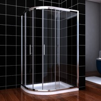 Acrylic warranty 10 years professional production enclosed sliding temperate glass shower room