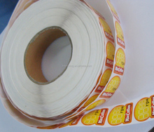 color printing stick on food label in sheet customized