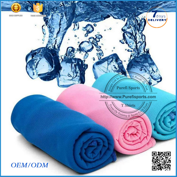 2016 Wholesale competitive price Cool ice towel magic towel for summer after sports chamois fabric