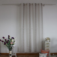 stripe linen like sheer french curtain fabric