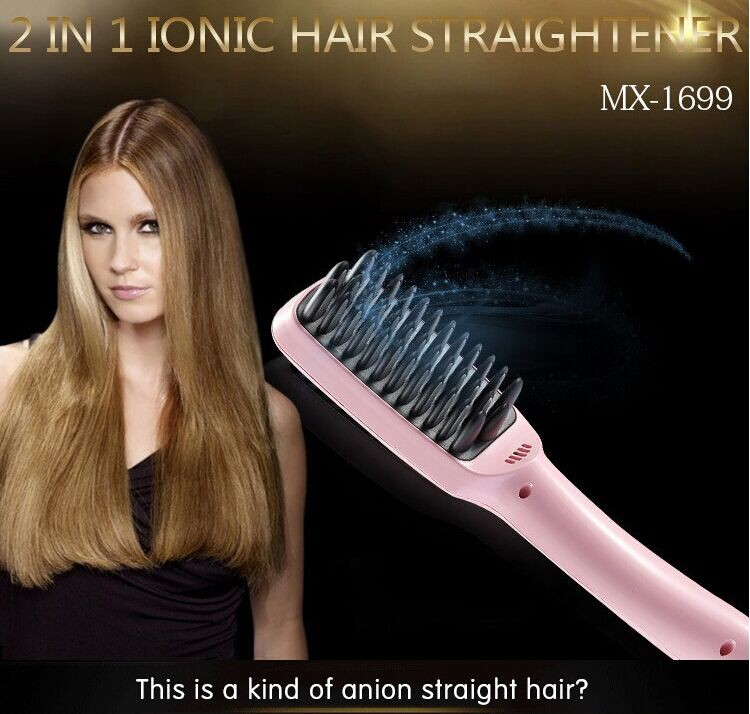 2015 wholesale/OEM electronic hair straightening brush as seen on TV paypal accepted