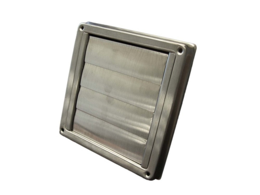 Stainless steel dryer vent exhaust fan wall terminations