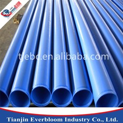Polyurethane lined green steel pipe,lining plastic bule steel pipes,tube