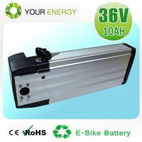 Aluminium house battery pack for electric bicycle ,36V 10Ah/15Ah electric bike battery pack