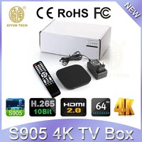 4K Amlogic S905 Android 5.1 TV Box Yuyu OEM /ODM Smart Box