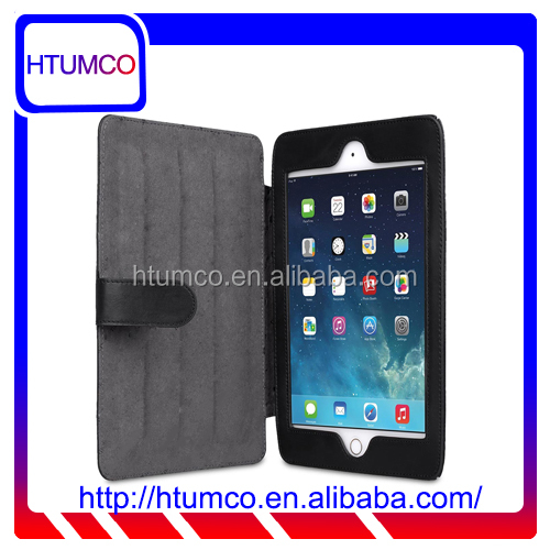 Hot Selling Black Stand Series Premium Leather Case for Apple iPad mini 4
