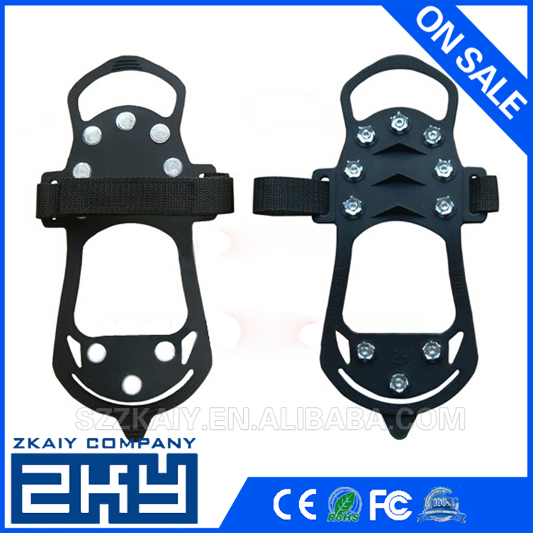 10 Teeth Non-slip Ice Snow Climbing Anti-slip Shoe Covers Spike Cleats Crampons S/M/L/XL New Arrival