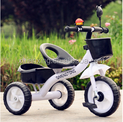 Kids tricycle 2015 new model/cheap ride on car three wheels tricycle for baby/hot sale children tricycle with back seat for sale