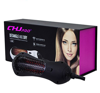Professional far infrared hair straightening 2 in 1 hair dryer and styling tools electric hot air brush