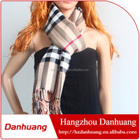 High quality fashionable cotton polyester long scarf pashmina scarf